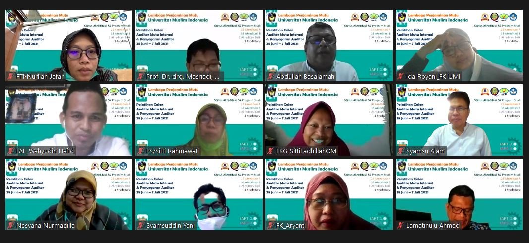 LPM Umi Latih Calon Auditor Mutu Internal