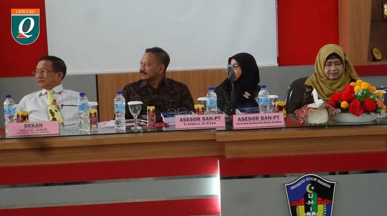 Visitasi Akreditasi Ilmu Hukum Fakultas Hukum UMI 2016