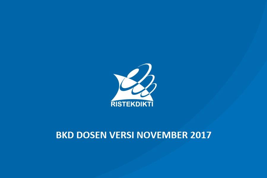 Aplikasi BKD Dikti Versi November 2017