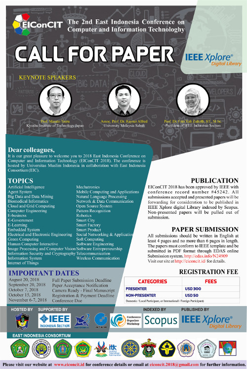 The 2nd East Indonesia Conference on Computer and Information Technology
