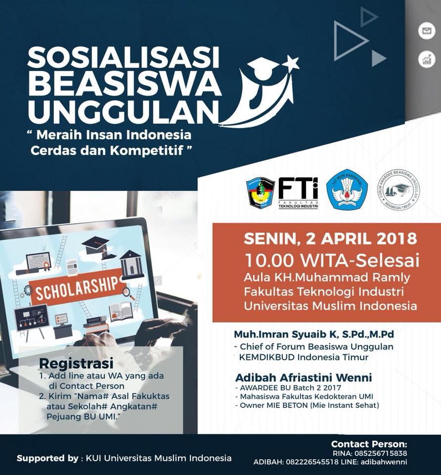 Sosialisasi Beasiswa Unggulan 2018